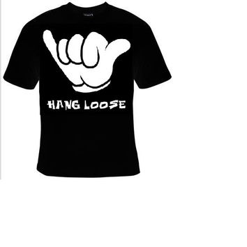 hang loose hand fingers t-shirt cool funny t-shirts gift present humor statement tee shirt