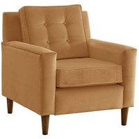Winston Velvet Chair, Honey