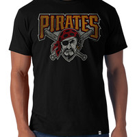 '47 Brand Pittsburgh Pirates Mens Short Sleeve Fashion T-Shirt - Black