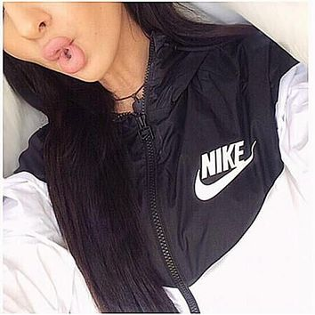 nike hooded zipper cardigan sweatshirt jacket coat windbreaker sportswear-4