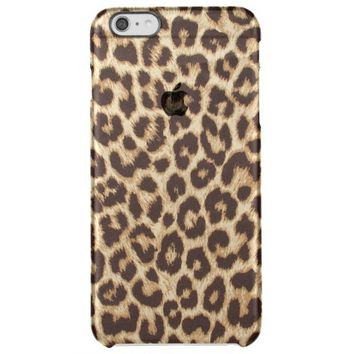 Leopard Print Uncommon Clearly™ Deflector iPhone 6 Plus Case