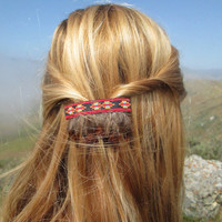 Tribal Feather Barrette