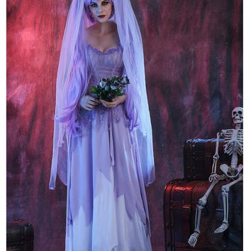 Purple Gothic Ghost Bride Costumes
