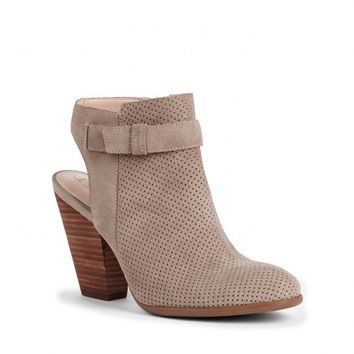 Sole Society Perin Laser Cut Suede Slingback Bootie