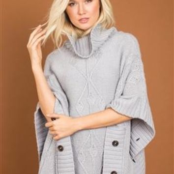 Argyle Knit Poncho by Simply Noelle
