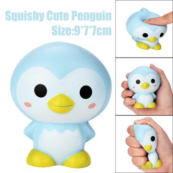Cute Penguin Strawberry Scented Squishy  Toy