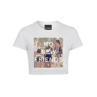 No New Friends Crop Tshirt