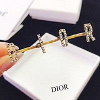 Dior Three Consecutive Fingers In One Full Diamond Personality Luxury Rings Jewelry Accessories