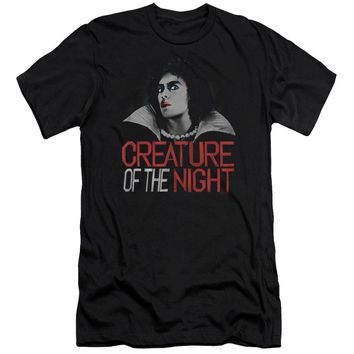 Rocky Horror Picture Show - Creature Of The Night Premium Canvas Adult Slim Fit 30/1 Shirt Officially Licensed T-Shirt