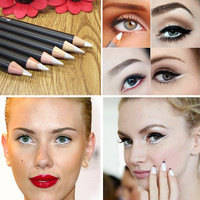 Make Up Eyeliner Pen Black Coffee Color Waterproof Natural White Delineador Caneta Pencil Eyeliner Powder Party Maquiagem