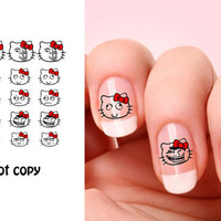 Set of 20 Hello Kitty Meme nail art decals.