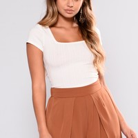 Adrienne Crop Top - Off White