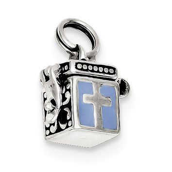 Sterling Silver Enameled Prayer Box Charm QC4458