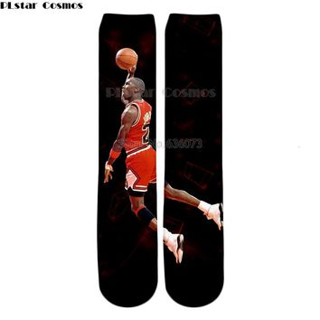 YX GIRL Drop shipping 2018 summer New Fashion Men Women Socks Jordan Dunk lore 3d Print casual Straight socks ZW105