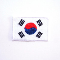 South Korea Flag Patch/Iron on Patch/Applique/Embroidery
