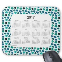 Flower Power 2017 Calendar Mouse Pad