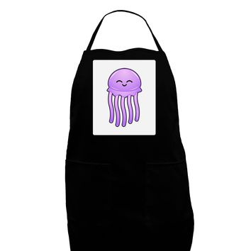 Cute Jellyfish Panel Dark Adult Apron by TooLoud