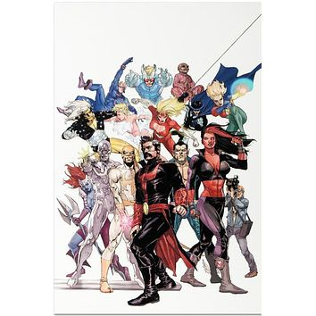 Defenders: Strange Heroes #1 - Limited Edition Giclee on Stretched Canvas by Leinil Francis Yu and Marvel Comics