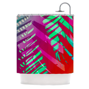 "Alison Coxon ""Hot Tropical"" Pink Red Shower Curtain"