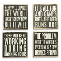 Primitives by Kathy Wood Coasters (Set of 4)