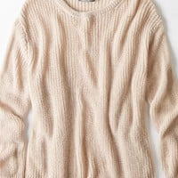 AEO Women's Don't Ask Why Oversized Crew Sweater