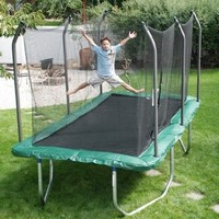 Summit 8' x 14' Rectangle Trampoline and Safety Enclosure:Amazon:Patio, Lawn & Garden