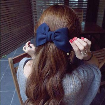 PEAPGC3 2016 Korean Style Hair Ornaments Flower Hair Clip Fashion Cute Hairpins Gig Bow Hair Clip For Women Hair Accessories
