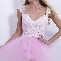Blush 9877 Short Homecoming Dress
