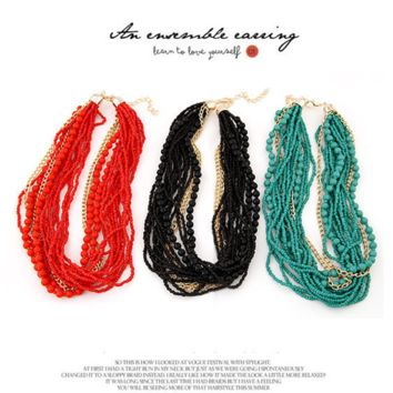 Women Jewelry Fashion Retro Simple Beaded Beads Necklace