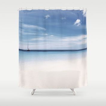 Sea and Sky Shower Curtain by Cinema4design
