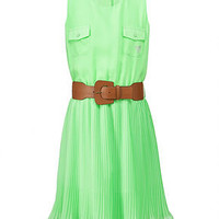 GUESS Girls Dress, Girls Belted Chiffon Dress - Kids Girls 7-16 - Macy's