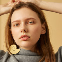 ourhour Abstract Metal Gold Earring