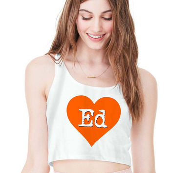 love Ed Sheeran For Womens Crop Tank **