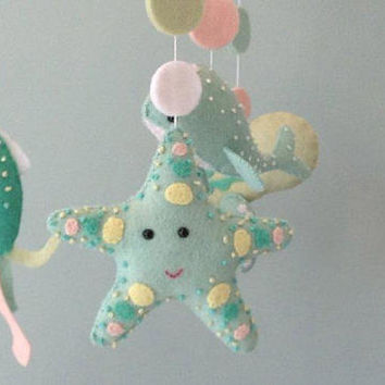 Custom Ocean Themed Baby Mobile, Under the Sea Baby Crib mobile, Pastel Nursery Mobile, Nursery Mobile, Nursery Decor, Gift For New Baby