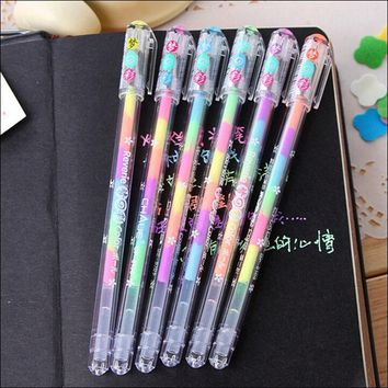 Cute Kawaii Watercolor Gel Pen Water Chalk Pen For Black Board Scrapbooking Photo Album DIY Home Decoration Free shipping 1409