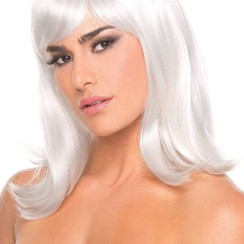 BW093WT Doll Wig White - Be Wicked