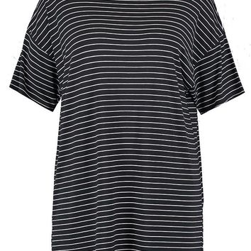 Plus Helen Striped T Shirt Dress | Boohoo