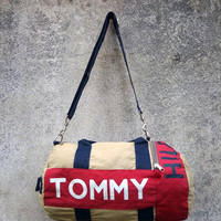 Rare! TOMMY HILFIGER Medium Duffle Bag