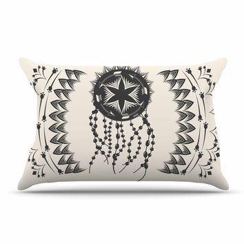 "Famenxt ""Bohemian Dream Catcher Boho"" Black Beige Pillow Sham"