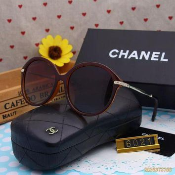 DCCKU62 Original Chanel Fashion New Design Polarized Flash Lenses Sunglasses 6021 - 183