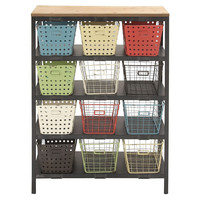 12-Drawer Colorful Storage Cart, Storage Boxes & Bins