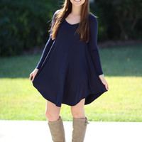 Simple Does It Dress - Navy