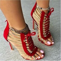 Shoeselfee Studded Stilettos