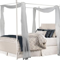1999 McArthur Canopy Bed Set - Off-White Finish - Full - Bed Frame Included