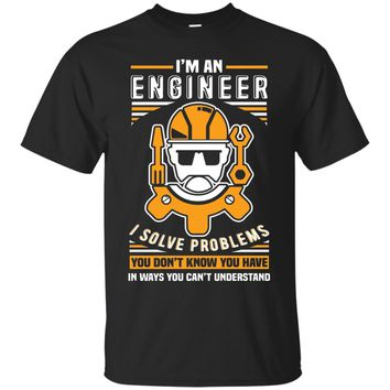 Mens Engineer t shirts funny sayings I am an engineer graphic tee