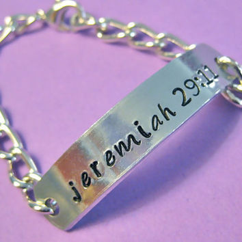 Scripture Bracelet Favorite Bible Verse or by thirtyoneshekels