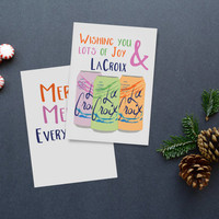 Wishing You Lots of Joy & La Croix Holiday Cards Set of 25 Merry Merry Everything
