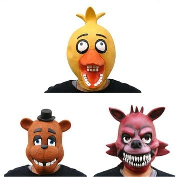 The  at  Mask Halloween Masquerade Freddy Bonnie Chica Foxy Anime  Collectible Fazbear Toy Doll L2079