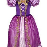 Tangled Rapunzel Little Kids Halloween Costume Girls Gown Fancy Dress