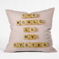Happee Monkee The World Is My Oyster Throw Pillow